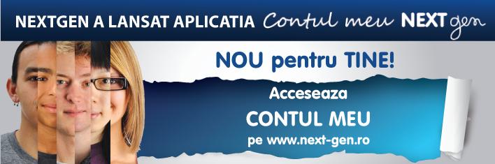 NextGen lanseaza aplicatia Contul Meu