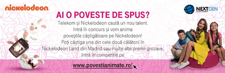 Telekom si NextGen iti animeaza povestea pe Nickelodeon!