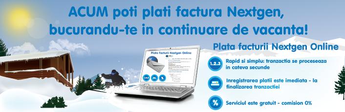 Acum facturile NextGen Communications pot fi plătite si online accesand site-ul www.next-gen.ro
